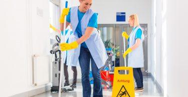 Sauberkeit am Arbeitsplatz und im Unternehmen.