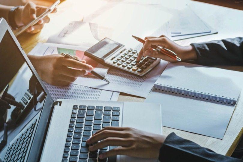 Blick auf ein Buchhaltungssoftwareprogramm
