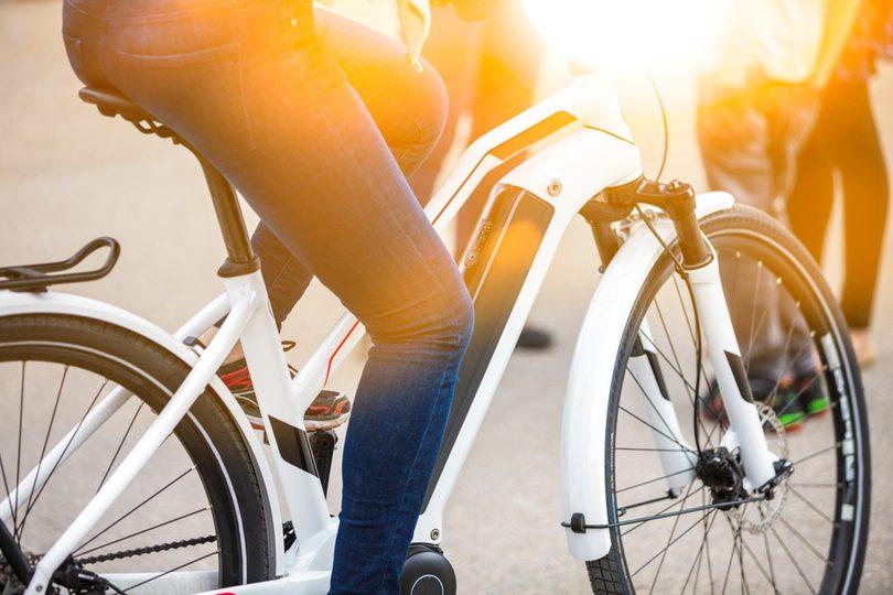 Blick auf ein E-Bike